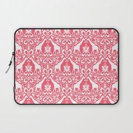 Giraffe Damask Coral Laptop Sleeve