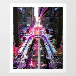 Transit of a Busy City Art Print