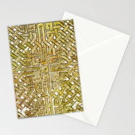 Gold Celtic Knot Square Stationery Cards
