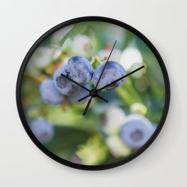 Perfect Pair at the Blueberry Patch Wall Clock