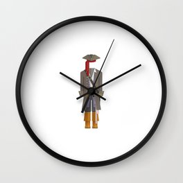 Caribbean Captain/Pirate Outfit Minimal Sticker Wall Clock