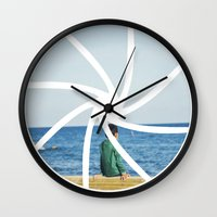 focus Wall Clocks featuring focus by iulia pironea