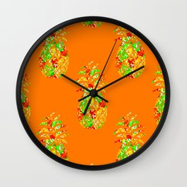 Punch Of Pineapple Wall Clock