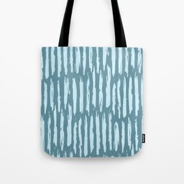 Vertical Dash Turquoise on Teal Blue Tote Bag