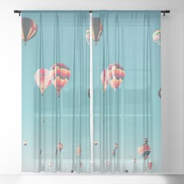 Hot Air Balloon Ride Sheer Curtain