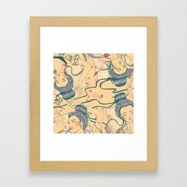 Those Who Yoga Framed Art Print