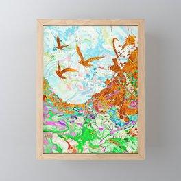 Golden Birds Framed Mini Art Print