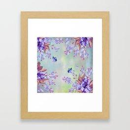 lilac, Purple, Burgundy, mix Turquoise Framed Art Print
