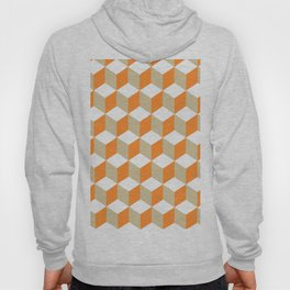 Diamond Repeating Pattern In Russet Orange and Grey Hoody