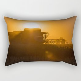 Midsummer time is harvest time of the cereal fields Rectangular Pillow