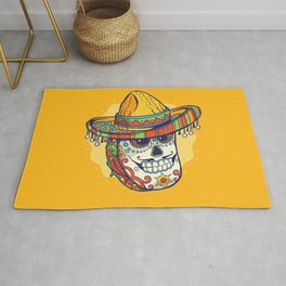 Masked Mexican Taco Funny Rug