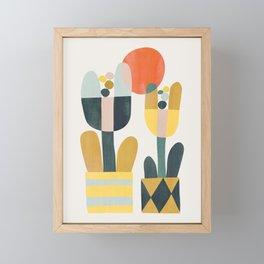 Two flowers Framed Mini Art Print