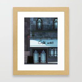 Café art Framed Art Print