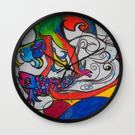 Jumping Fish Wall Clock