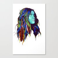 dreamer Canvas Prints featuring Dreamer by Peter Fulop