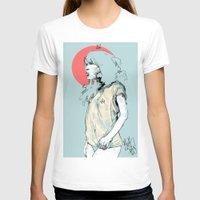 korea T-shirts featuring Korea Girl by Dave Long [A1W]