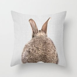 Rabbit Tail - Colorful Throw Pillow