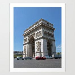 Paris (arc de triomphe) Art Print