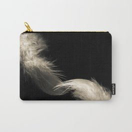 Two feathers in black and white Carry-All Pouch