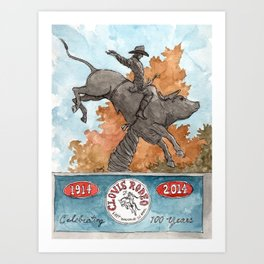 Riding Red Rock Art Print