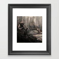 Yoda on Dagobah Framed Art Print