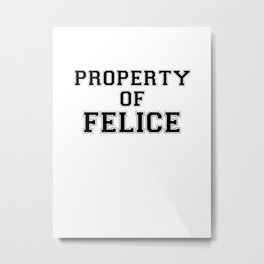 Property of FELICE Metal Print