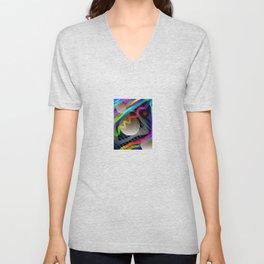 Rainbow Wave Unisex V-Neck