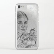 don't take away my doll -2- vintage Clear iPhone Case