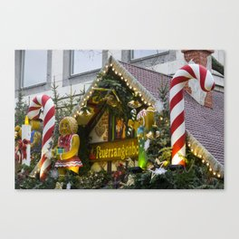Candy Stick Xmas Canvas Print