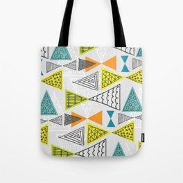 Geometric Mid Century Modern  Triangles Tote Bag