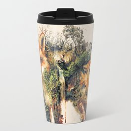 The Fox Nature Surrealism Travel Mug