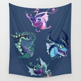 wings of fire sea Wall Tapestry