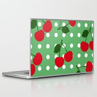 cherry Laptop & iPad Skins featuring cherry by vitamin