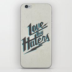 Love Thy Haters - White iPhone & iPod Skin