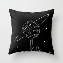 The Illusion of Spin Throw Pillow