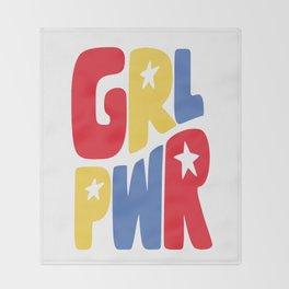 GRL PWR Star Throw Blanket