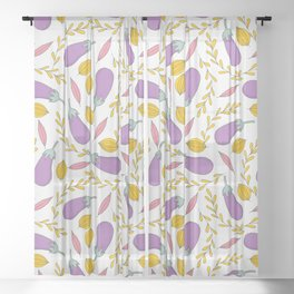 zucchini pattern (1) Sheer Curtain
