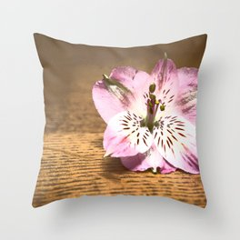 Bright Tiger Lily Throw Pillow
