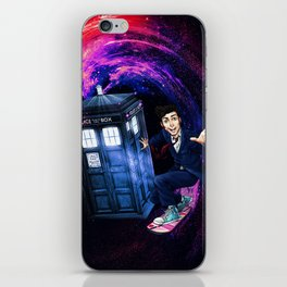 Doctor Who Space Surfing iPhone Skin