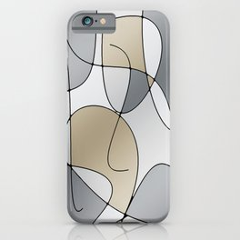 ABSTRACT CURVES #1 (Grays & Beiges) iPhone Case