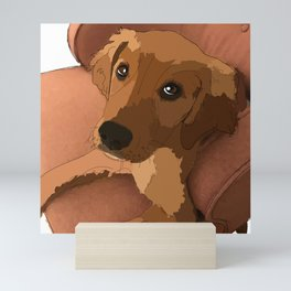 Labrador lounging Mini Art Print