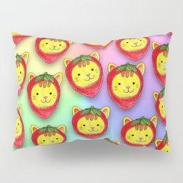 Strawberry Cat Pillow Sham