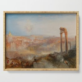 "J.M.W. Turner ""Modern Rome – Campo Vaccino"" Serving Tray"