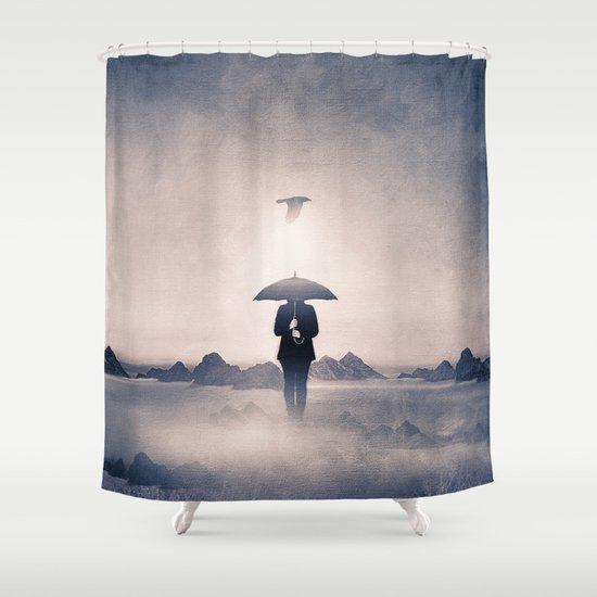 Waiting for the rain (colour option) Shower Curtain