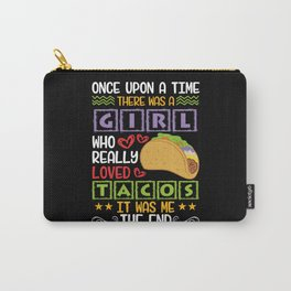 Nachos Salsa Tacos Burritos Mexican Food Carry-All Pouch