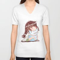 hug V-neck T-shirts featuring Hug by Kisava NiCh