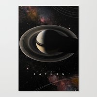 saturn Canvas Prints featuring SATURN by Alexander Pohl