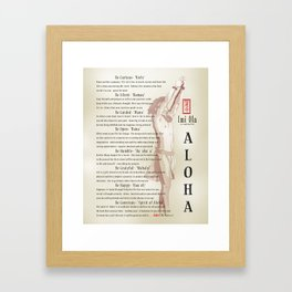 Aloha [Finding your Purpose] vintage art print Framed Art Print