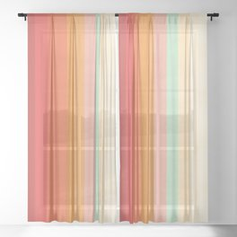 Rainbow Chevrons II Sheer Curtain