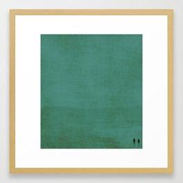 Together in blue Framed Art Print
